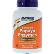 NOW Papaya Enzyme Chewable 180 таб